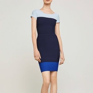 BCBGMAXAZRIA Jacquetta Color Block Dress.